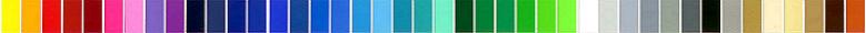 Шкала цвета биокаминов Slider color от Gloss Fire