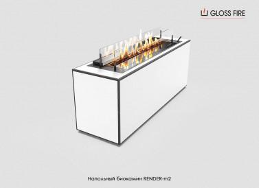 Напольный биокамин RENDER-m2